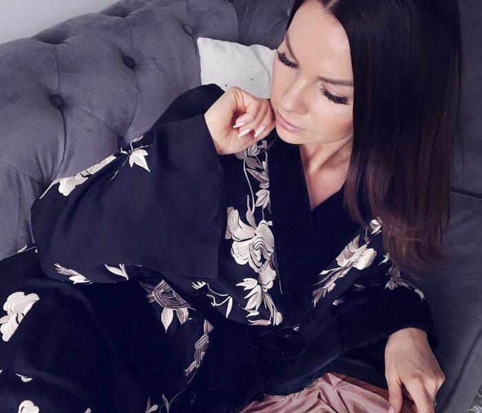 Kimono z haftem